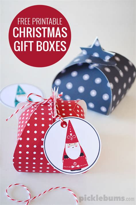 printable folding christmas gift tags let s wrap free printable gift boxes picklebums