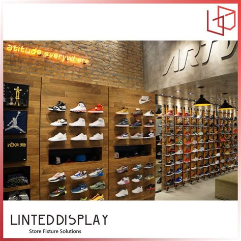 wall mounted shoe display shelf wall mounted sport shoes display rack with led buy shoe store display racks modern display