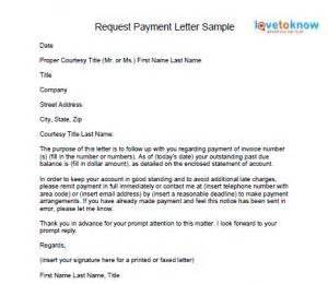 request payment letter accounting tags and