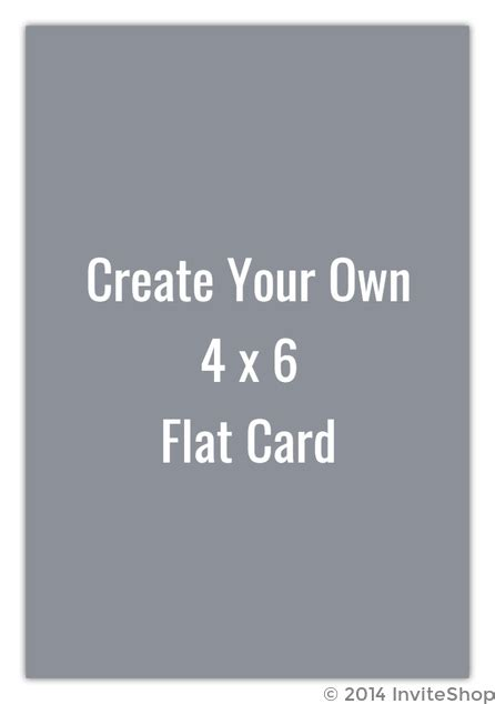 Create Your Own Card Template by Create Your Own 4x6 Flat Card Create Your Own Templates