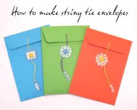 how to make an envolope craft tutorial how to make a string tie envelope