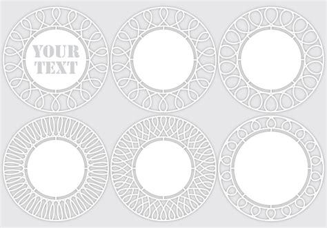 laser cut templates   vector art stock