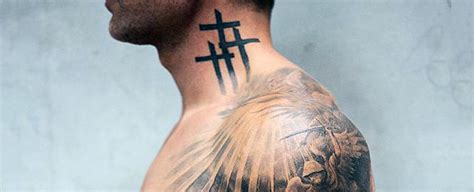 cross on neck tattoo top 40 best neck tattoos for manly designs and ideas