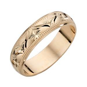 9ct Yellow Gold Ladies' Patterned Wedding Band   H.Samuel