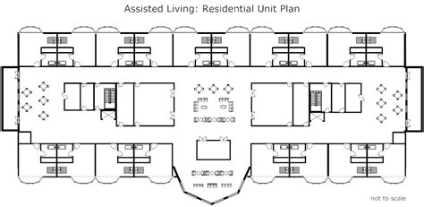 retirement home floor plans assisted living residential unit plan