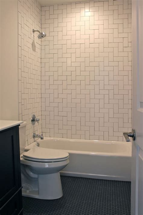 subway tile design bathroom with herringbone pattern white subway tile
