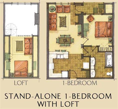 one bedroom house plans with loft floorplans finishes at morning lodge condominiums