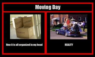 Moving Away Meme - the 5 stages of moving