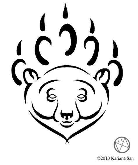 tribal polar bear tattoo tribal polar