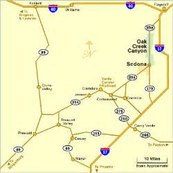 sedona arizona map sedona az area map directions