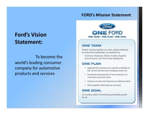 volvo mission statement ford motor company facts