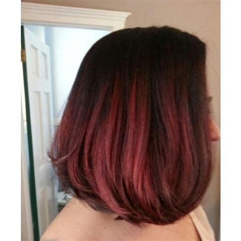 hair clients ombre pictures black brown to red ombre on short medium hair client has
