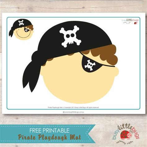 Printable Pirate Playdough Mats | 17 best images about pirate preschool theme on pinterest