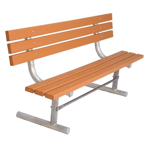 plastic bench ultra play 6 ft cedar commercial park recycled plastic