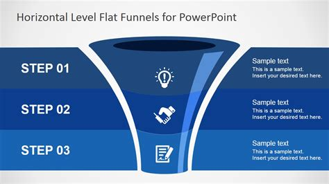 Free Flat Funnel Powerpoint Template Slidemodel Funnel Diagram Powerpoint Template