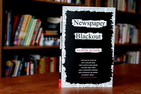Books Newpapers As by Newspaper Blackout A Book By Kleon Newspaper