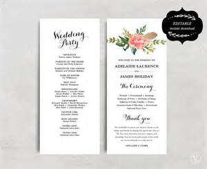 programs for weddings templates 17 best ideas about wedding program templates on