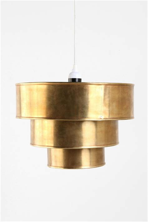 brass tiered pendant shade contemporary pendant