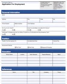 editable employment application template customizable employee application form pdf and word