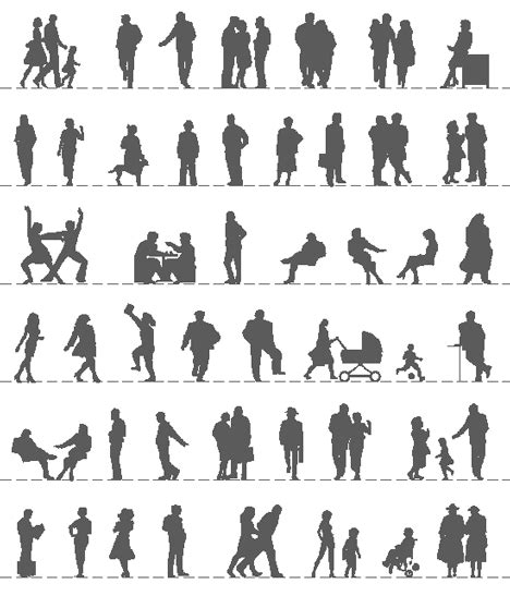 silhouette persone sedute figure umane dwg silhouette dwg