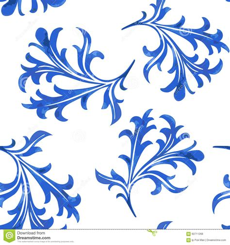 china blue pattern vector vector seamless porcelain pattern in white background