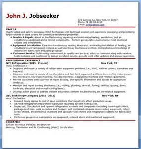hvac resume templates hvac technician resume sle hvac resume