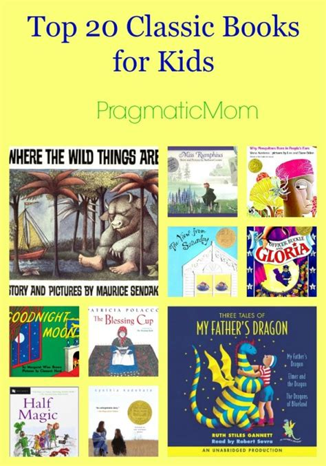 top 20 picture books top 20 classic books for pragmaticmom