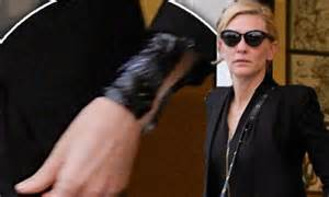 cate blanchett tattoo cate blanchett leaves palour as she celebrates