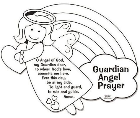 guardian angels coloring page guardian angel color your own prayers easter crafts for