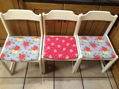 Cath Kidston Armchair by 6 Chairs Cath Kidston Fabric Seat Chalk Paint Finish For