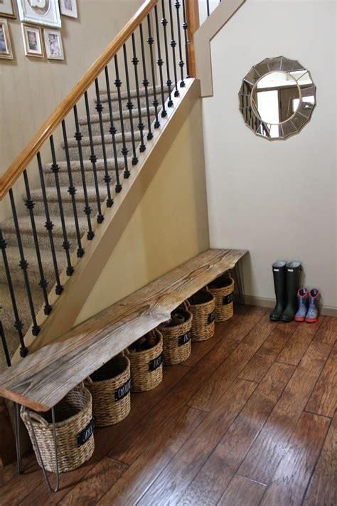 trey  lucy  bench shoe storage diy