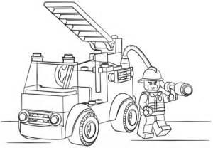 lego ambulance coloring pages lego brandweerauto kleurplaat gratis kleurplaten printen
