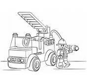 Dibujo De Cami&243n Bomberos Lego Para Colorear