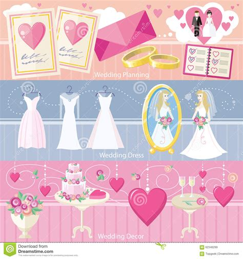 Wedding Planner Dress by Wedding Planning Dress And Decor Concept Stock Vector