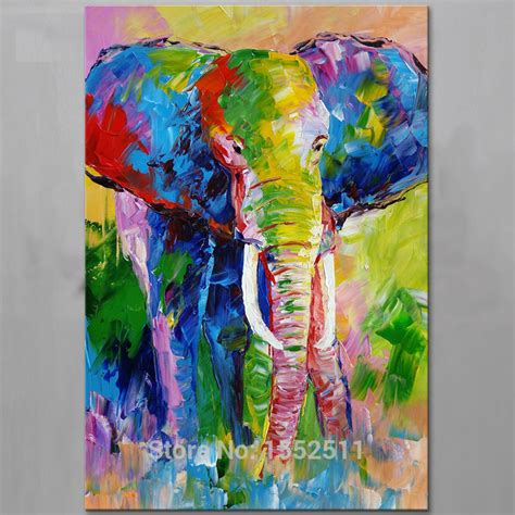 painting wohnzimmer aliexpress buy painted animal elephant