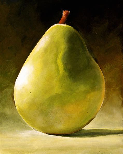 green pear painting by toni grote