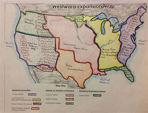 map of expansion of united states westward expansion map states www imgkid the image