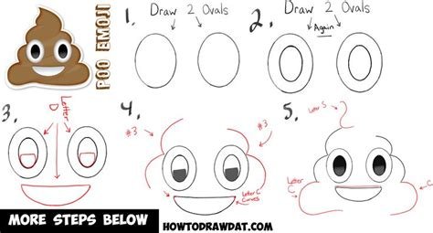 tutorial gambar rilakkuma how to draw poop emoji in simple steps for kids how to
