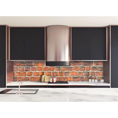 Merveilleux Comment Poser Une Credence De Cuisine #4: Credence-de-cuisine-texture-mur-brique-rouge.jpg