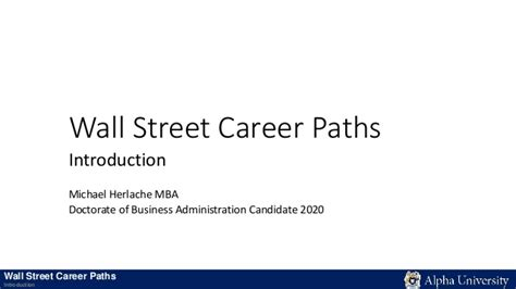 Career Paths For Mba In Finance by Wall Career Paths