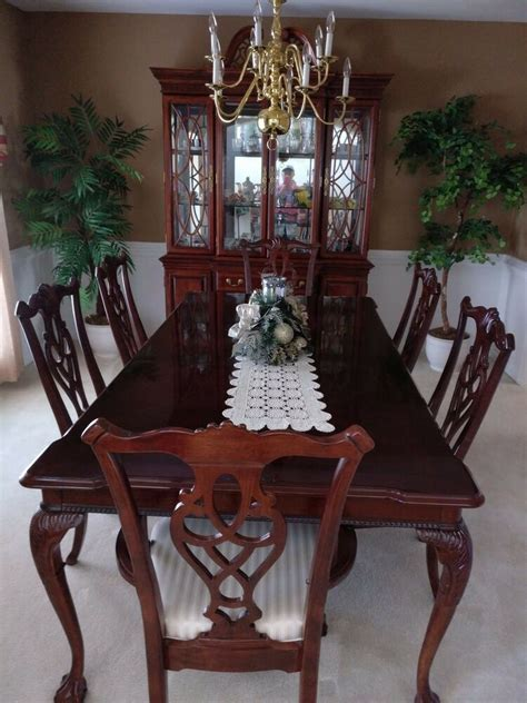 piece dining room set  table  chairs china cabinet ebay