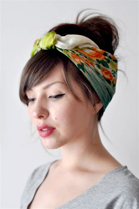 how to wear a bandana with short hair head scarf tutorial keiko lynn