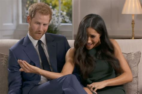 meghan harry meghan markle and harry goof off in engagement interview