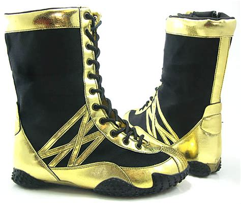 Punch Lensa Black List Gold funky gold black boxing boots s ebay