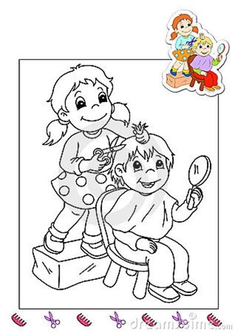 coloring pages hairdresser coloring book of the works 31 hairdresser stock photos