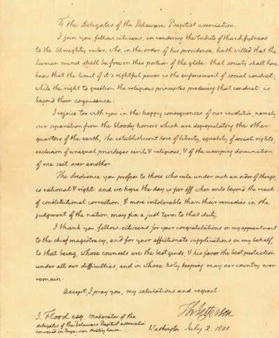letter  president thomas