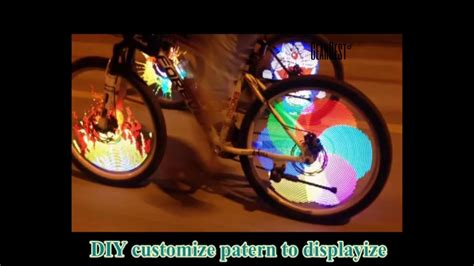 Bicycle Diy Programmable Wheel Light Led Yq8003 Black yq8003 bicycle light diy programmable led wheel light from gearbest