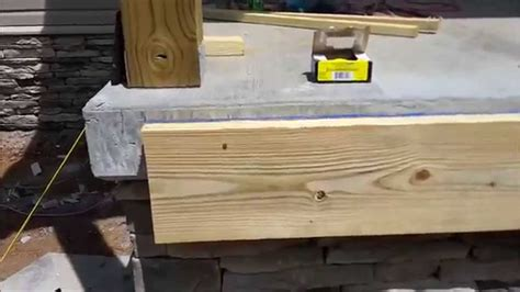 wood stairs   concrete porch youtube