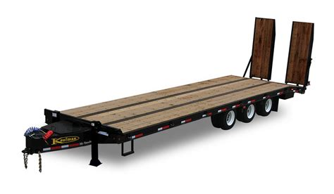 flat bed trailers 62000 gvwr heavy equipment flatbed trailer by kaufman trailers