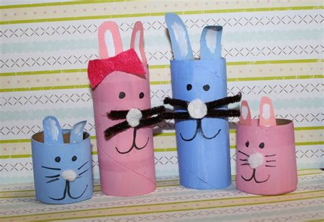 Easter Craft Toilet Paper Roll - how to make toilet paper roll easter bunnies inhabitots